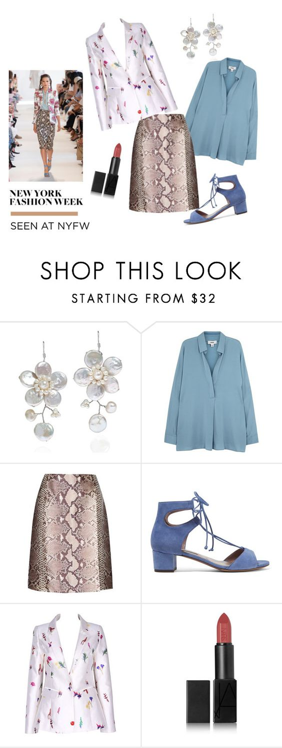 """""""Style It: Best NYFW Trend"""" by mariannamic ❤ liked on Polyvore featuring Altuzarra, AeraVida, Vince, Tory Burch, Tabitha Simmons, NARS Cosmetics, NYFW, fashionWeek and womenswear"""