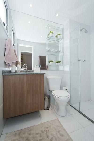 Pinterest • O catálogo mundial de ideias -> Decoracao De Banheiro Com Prateleiras De Vidro