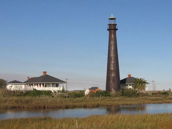 Bolivar Point Lighthouse - Texas, USA