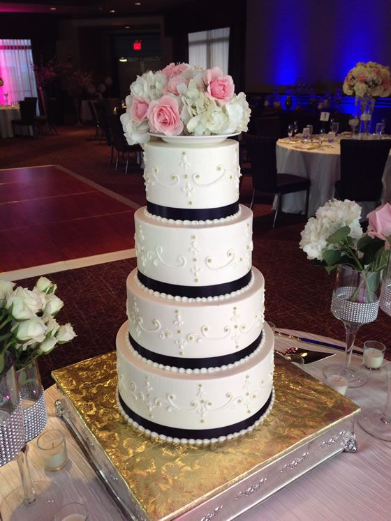 wedding cakes massachusetts black ribbon wedding boston cakes black