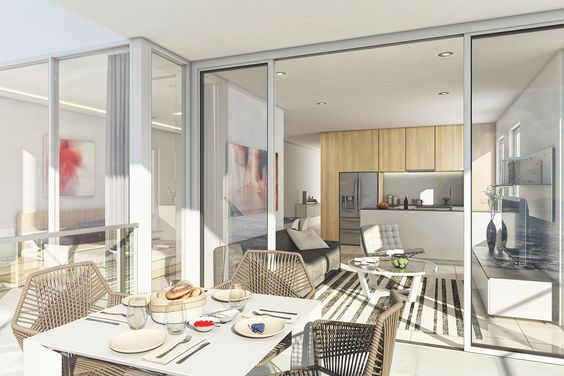 modern open plan living with great indoor - outdoor flow