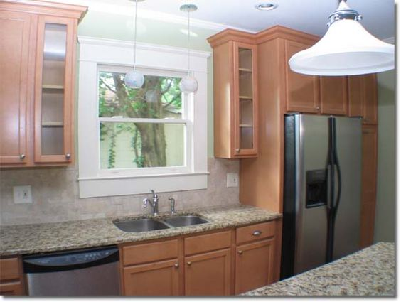 Kitchen sink cabinets balanced well