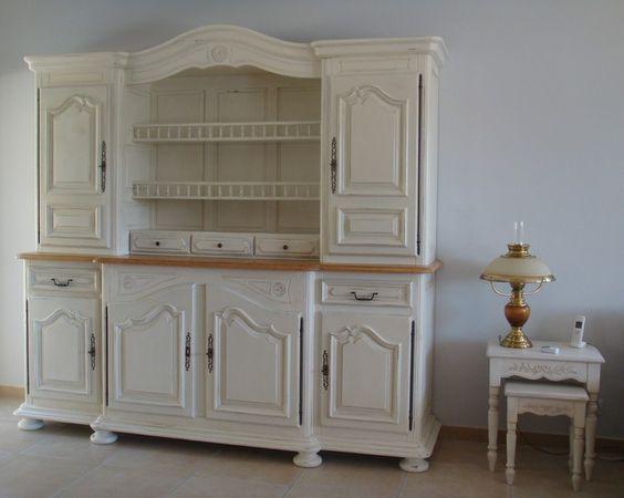 Vaisselier peint avec chalk paint tm peinture d corative - Peindre un meuble en bois effet patine ...