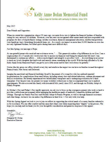 Spring  Appeal Letter  Kadmf Appeal Letters