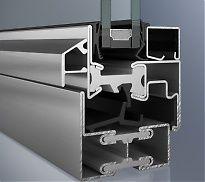 Edelstahlfenster, thermisch getrennt, 2 Dichtungen, Bautiefe 60mm, bis Uw-1,1 W/m²K