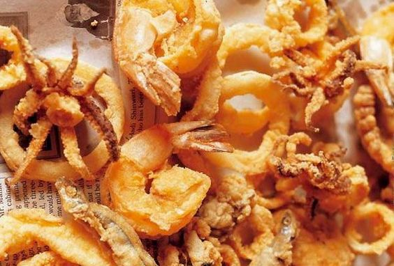 what we are having for dinner: Fritto Misto Amalfitano