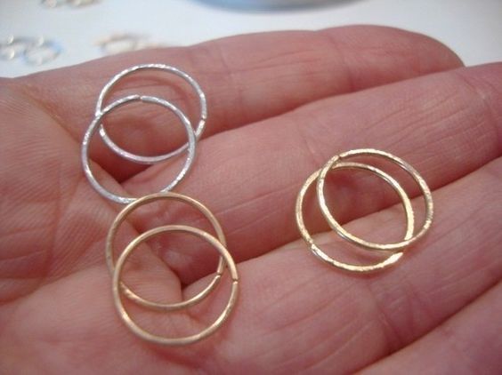 2 pairsgold  silver and rose goldyou choose the by hothoops, $15.00