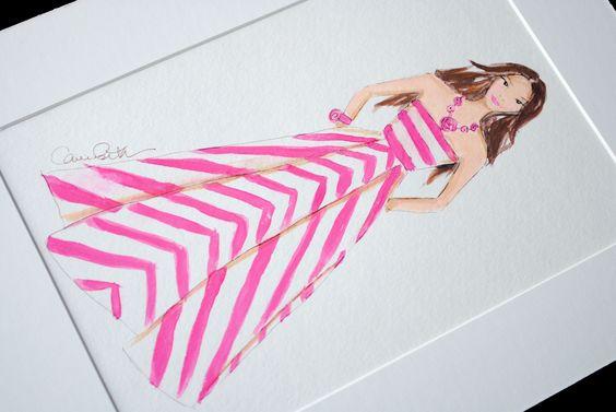 Matted Illustration   www.carriebethtaylor.com