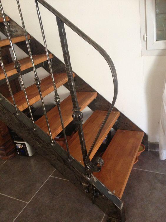 rambarde d escalier fer forge marches en bois martigues escalier fer forg 233