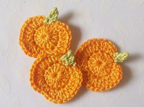 Crochet Pumpkin AppliquesLight Orange by LittleMargie on Etsy, $3.00