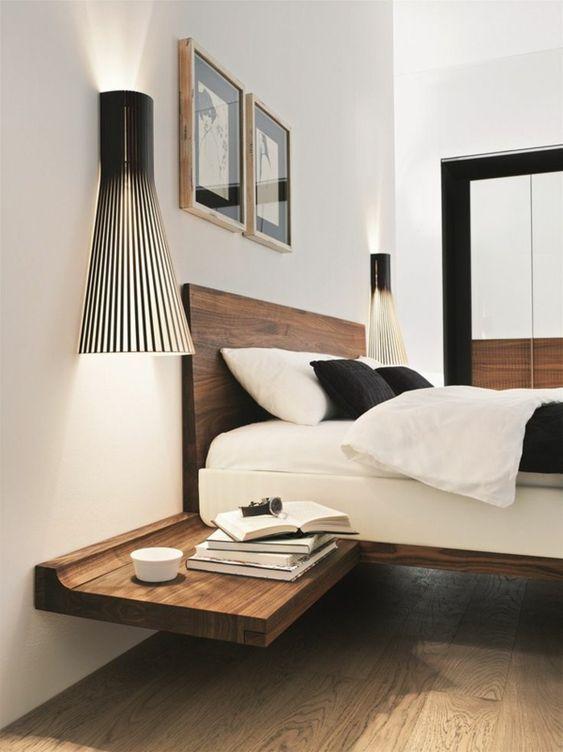 Notre chambre - Mur lambris et tête de lit home made u2026 Pinteresu2026