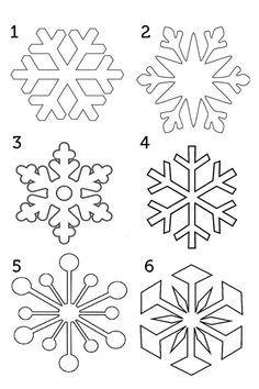 Snowflake Dibujos De Navidad Para Imprimir Plantilla De Copo De Nieve Copo De Nieve Dibujo