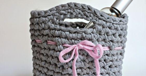 julie ♥ adore: DIY corbeille au crochet