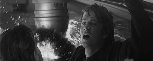 Hayden Christensen as Anakin Skywalker gif. Him smiling and pulling himself up is just too much for me to handle