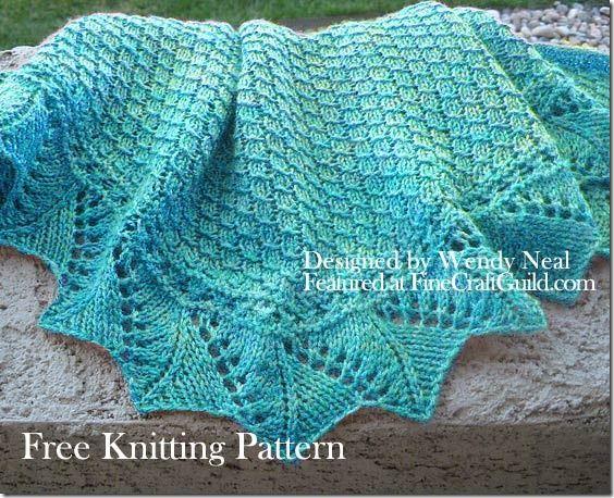 Lace Shawl Knitting Patterns : Lace scarf knitting patterns beautiful stitches and videos