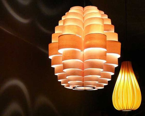 "Artistic Lighting Shades from ""Passion 4 Wood"""