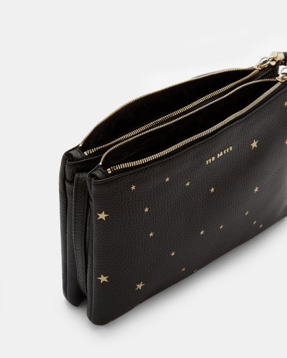 detailed look aliexpress brand new Star embossed leather cross body bag - Black   Bags   Ted ...