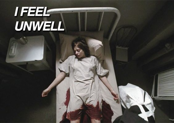 I Feel Unwell You do? Oh no you don't. You actually look so healthy. As a matter of fact, you have so much excess blood. Maybe your body has developed so much blood that it went out of you.