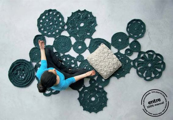 BIG scale handmade crochet rug, ENTRE collection - design N 007, born April 2013, by the hands of ARTSPAZIOS