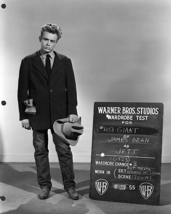 James Dean in a wardrobe test as Jett Rink for Giant