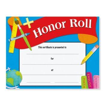 Honor roll award casual certificates pinterest casual for A b honor roll certificate template