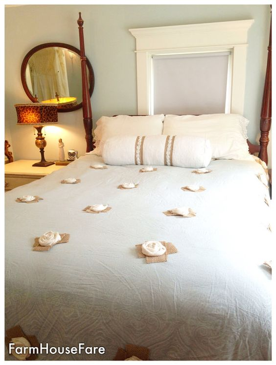 king size bed spread blue shabby chic bedding rustic burlap rosettes french provincial blue shabby chic bedding