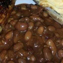 THIS FAIRLY EASY RECIPE RESULTS IN SWEET-AND-SPICY BAKED BEANS.