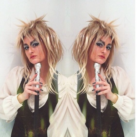went to an 80s party last night, and because I don't do anything (costumes in…