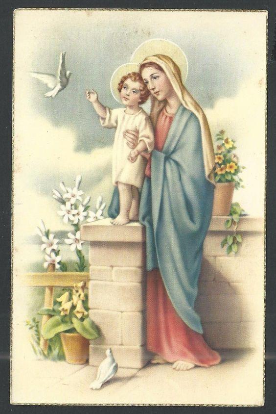Postal antigua de la Virgen santino holy card image pieuse FOR SALE • EUR 4,00 • See Photos! Money Back Guarantee. estampa antigua de San Agustin 222361507362