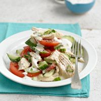 Poached Chicken Salad Stackup