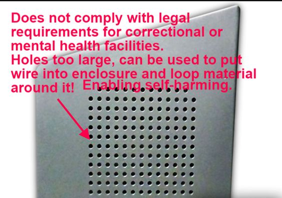 hospital TV enclosures