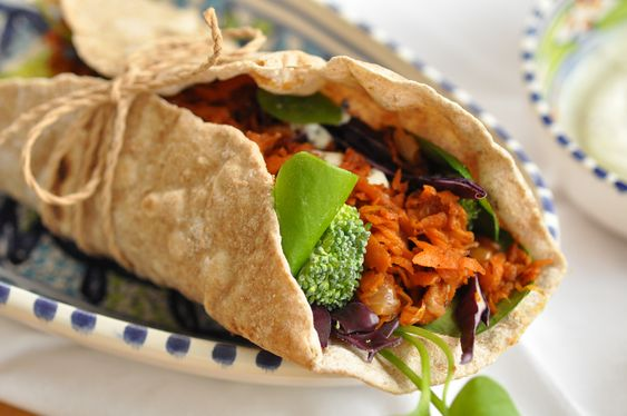 ein bisschen grüner: vegane Wraps ohne Plastik mit schneller BBQ Sauce