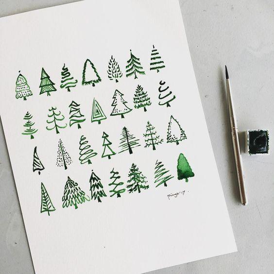 15 Simple Christmas Bullet Journal Doodles 2020 Bullet Planner Ideas Christmas Doodles Bullet Journal Art Journal Doodles
