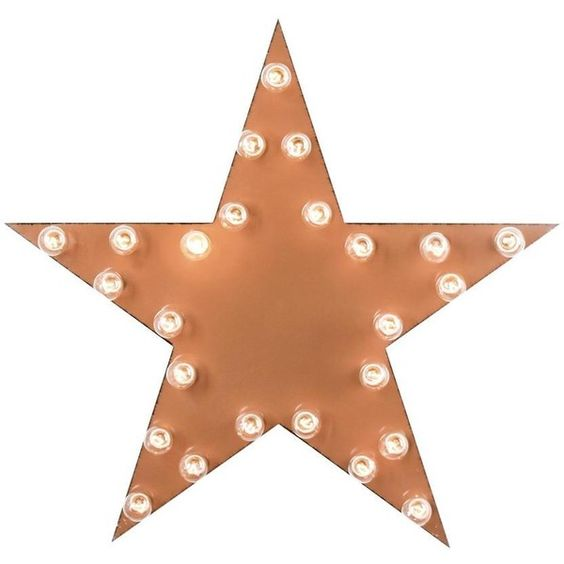 Dot & Bo Star Marquee Sign (¥11,925) ❤ liked on Polyvore featuring home, home decor, wall art, filler, lamps, star, star signs, orange home decor, metal star wall art and star home decor
