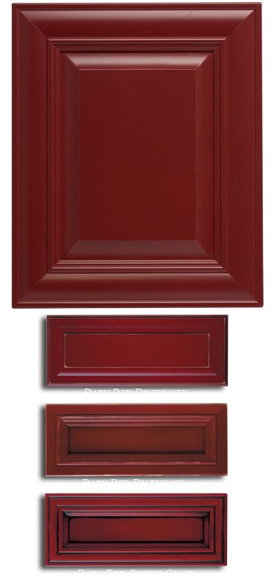 Paints and finishes maple barn red more kitchen for Kitchen doors and more