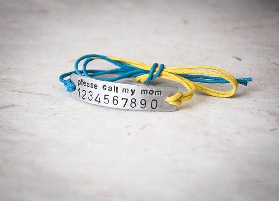 Braccialetti - Braccialetto antismarrimento cn numero di telefono - un prodotto…