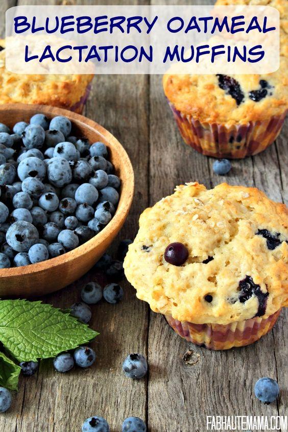 Blueberry Oatmeal Lactation Muffins | Recipe | Blueberry Oatmeal ...