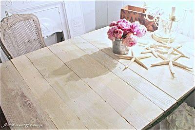 wood planks replacing the broken glass top