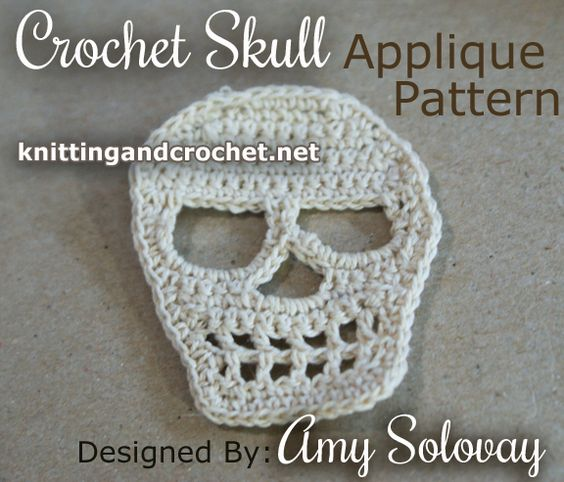 Crochet Skull Pattern -- Use as an Applique or Patch