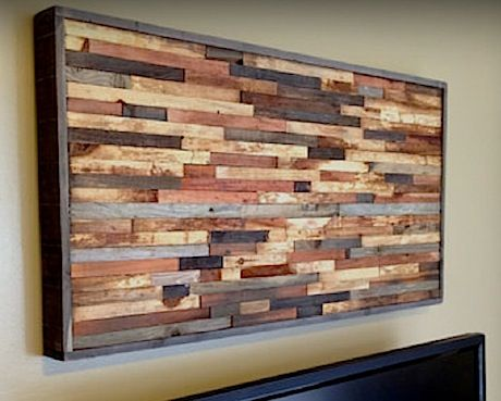 Reclaimed wood walls, Reclaimed wood wall art and Sound proofing on ...