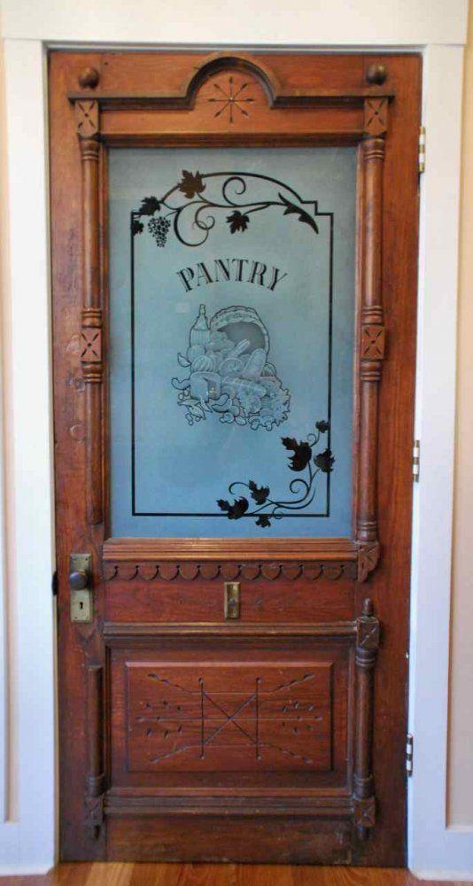 Glass Front Pantry Door Part - 42: Antique Farmhouse Door Repurposed As A Pantry Door - By Rafterhouse. |  RAFTERHOUSE | Phoenix, Arizona Custom Home Building Company | Pinterest |  Antique ...