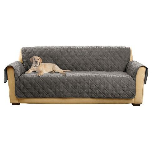 Non Slip Waterproof Sofa Furniture Protector Gray Sure Fit With Images Sofa Furniture Sure Fit Furniture Covers