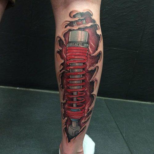 125 Best Leg Tattoos For Men Cool Ideas Designs 2020 Guide Leg Tattoos Calf Tattoo Gear Tattoo