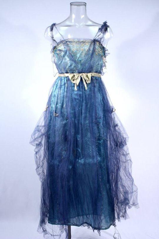1919 blue evening dress