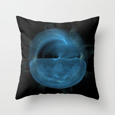 NeonSeries027 Throw Pillow by fracts - fractal art - $20.00