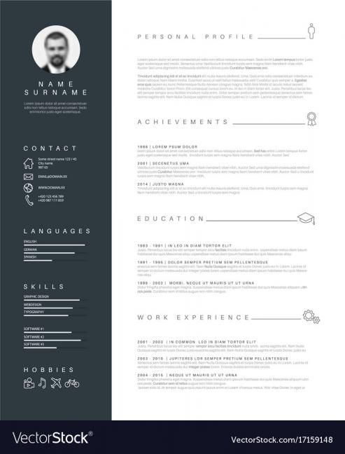 Nice Resume Templates In 2020 Cv Template Cv Resume Template Minimalist Resume