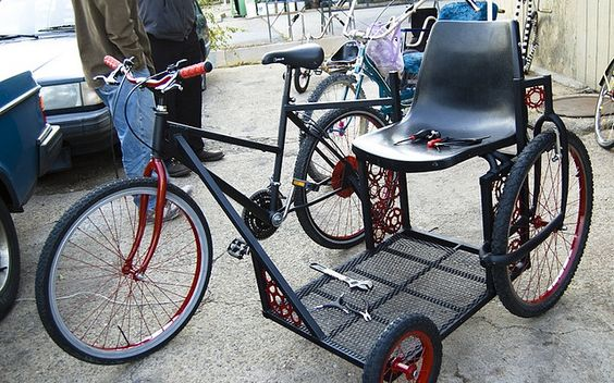 Sidecar Bicycle by delcruiser, via Flickr  This would be awesome for the special needs kid.