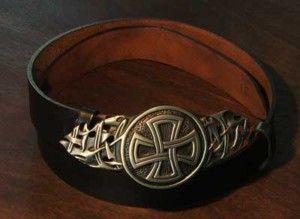 Black Leather Medieval Celtic Cross Belt and Buckle | eBay
