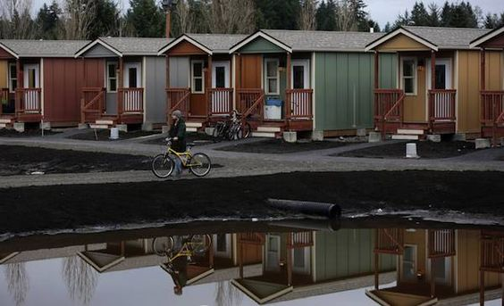 More Tiny Homes For The Homeless Now In Seattle Tiny House Community Tiny House Village Shipping Container Home Builders