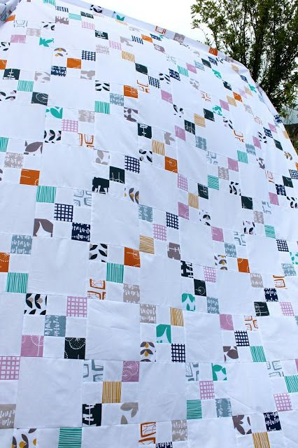 A Lotta Nines Irish Chain Quilt - Combine the simple look of traditional quilt patterns and the geometric fun of Irish chain quilts to create this stunning and gorgeous free quilting pattern. The A Lotta Nines Irish Chain Quilt is a quick quilting pattern that will take you about two evenings to sew up. Created by sewing together plain or neutral quilt blocks with a nine patch quilt block, this Irish chain quilt pattern is so easy that you will be surprised at how quickly you finish it.